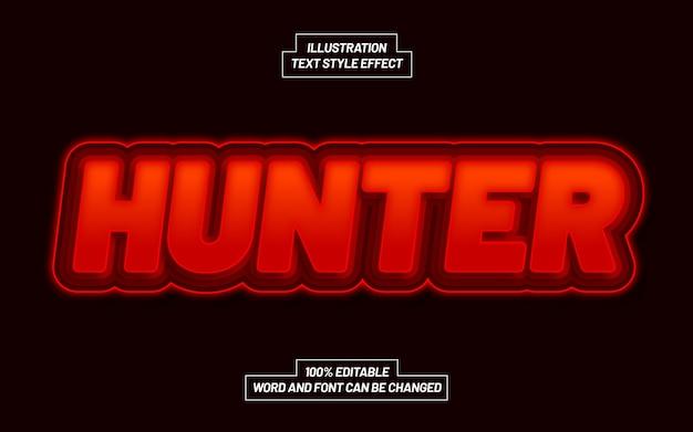 Efeito hunter bold text style Vetor Premium