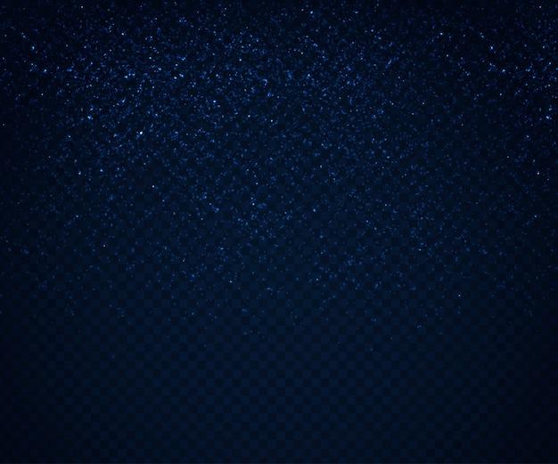 Efeitos de luz brilhantes, fluxo de partículas azuis Vetor Premium