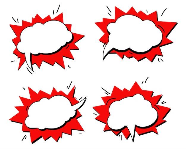 Efeitos sonoros de texto em quadrinhos. Vetor Premium