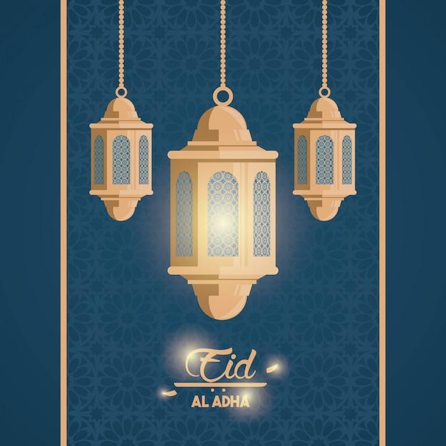 Eid al adha festa dos muçulmanos Vetor grátis