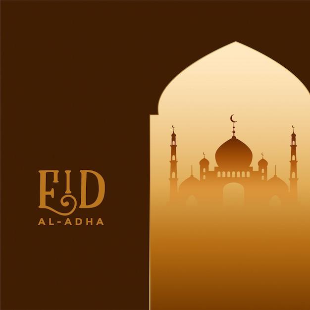 Eid al adha festival islâmico bakrid deseja saudação Vetor grátis