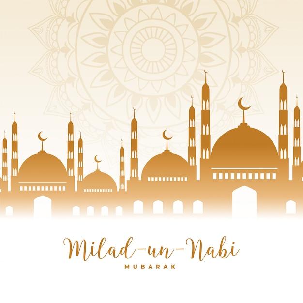 Eid milad un nabi barawafat festival islâmico Vetor grátis