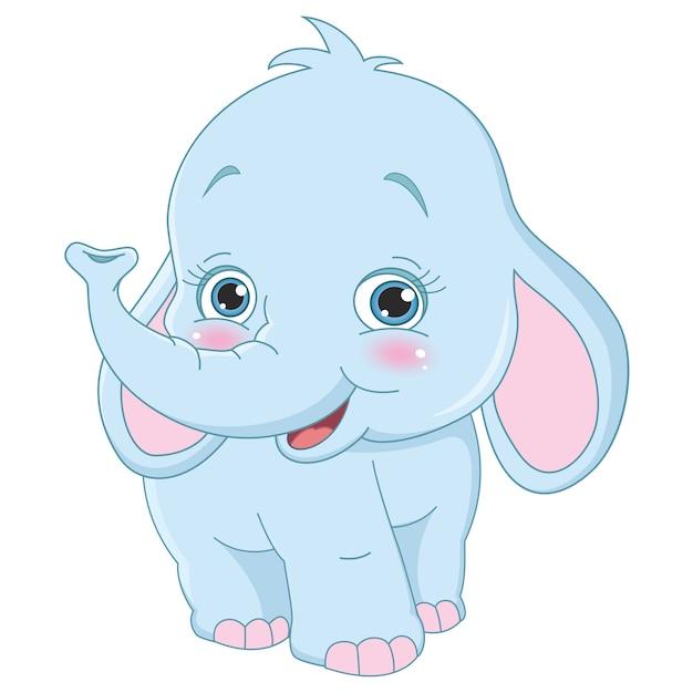 Elefante dos desenhos animados baixar vetores premium - Fotos de elefantes bebes ...