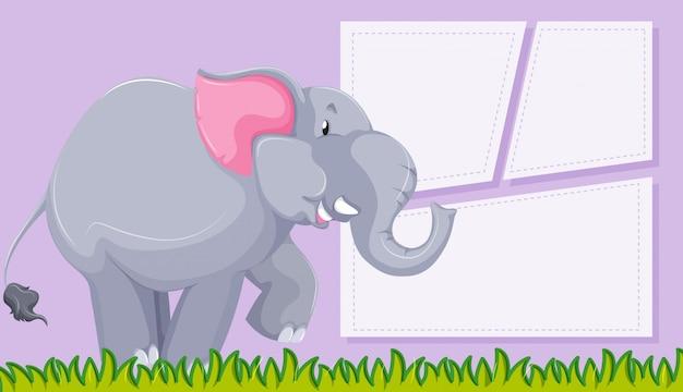 Elefante no fundo roxo Vetor grátis