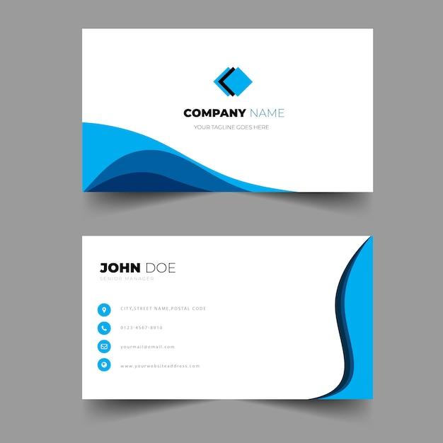 Elegant business business card modelo brilhante cor design Vetor Premium