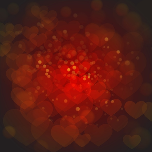 Elegant red valentine backgrounds com efeito de iluminação Vetor grátis