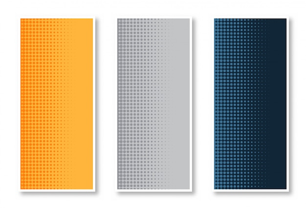 Elegante conjunto de fundo de banner vertical de meio-tom Vetor grátis