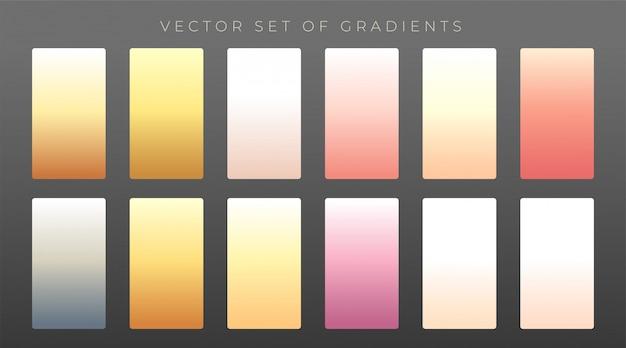 Elegante conjunto de gradientes premium Vetor grátis