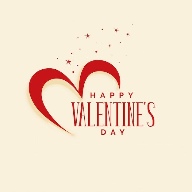 Elegante feliz dia dos namorados corações fundo Vetor grátis