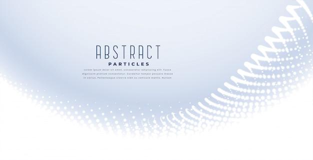 Elegante fundo branco com onda de partículas Vetor grátis