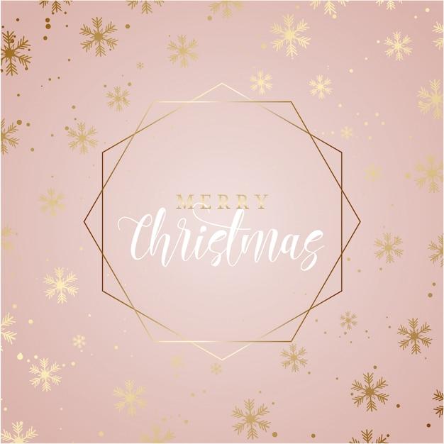 Elegante fundo de natal com flocos de neve de ouro Vetor grátis