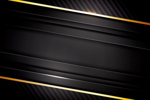 Elegante fundo escuro com detalhes dourados Vetor grátis