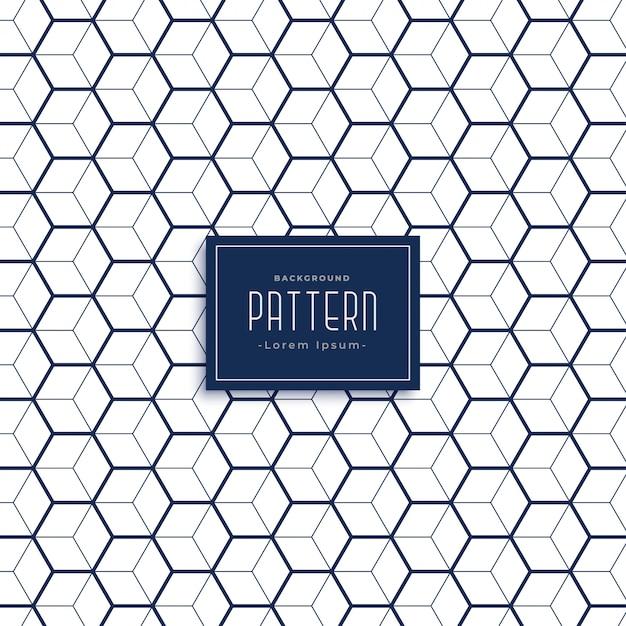 Elegante hexagonal 3d cubo estilo de fundo Vetor grátis