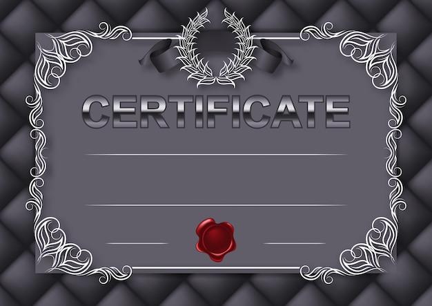 Elegante modelo de certificado, diploma Vetor Premium