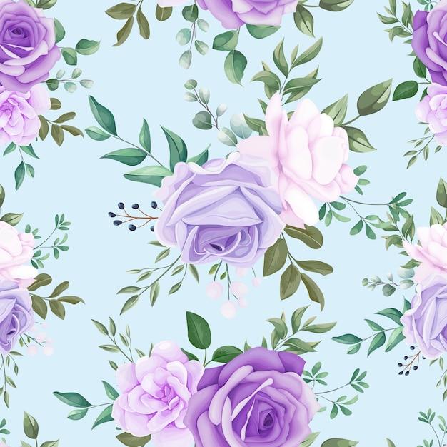 Elegante padrão sem emenda floral Vetor grátis