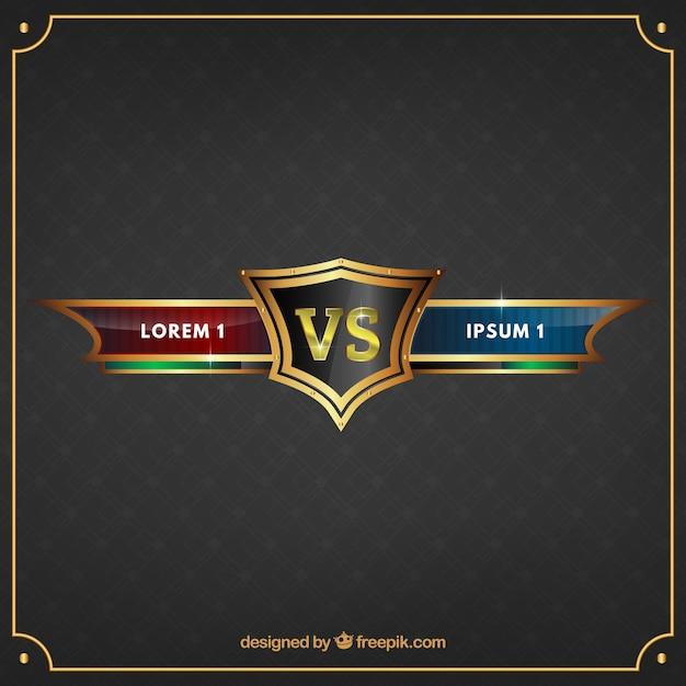 Elegante versus design Vetor grátis
