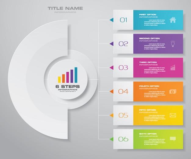 Elemento de design de gráfico de infografia Vetor Premium
