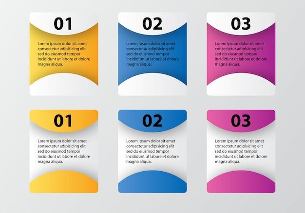Elemento de design de opções de infográficos Vetor Premium