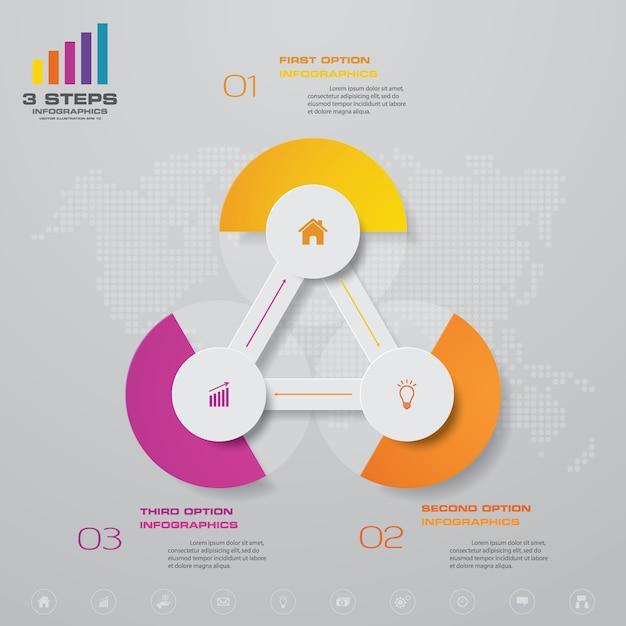 Elemento de design gráfico abstrato infográfico Vetor Premium