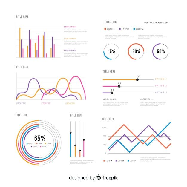 Elemento de infográfico collectio Vetor grátis