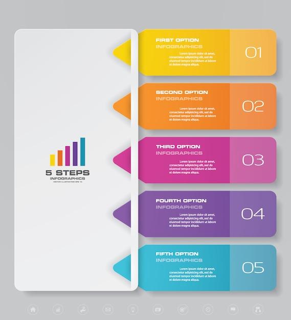 Elemento de infográfico de gráfico de apresentação. Vetor Premium