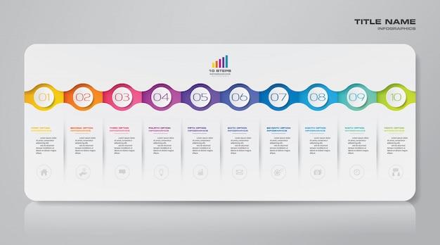 Elemento de infográfico gráfico moderno Vetor Premium