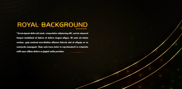 Elemento de luxo com efeito de ouro brilhante e linhas brilhantes Vetor Premium