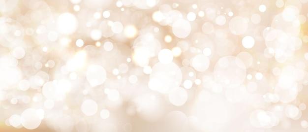 Elemento de luz laranja abstrato que pode ser usado para o fundo decorativo do bokeh. Vetor Premium