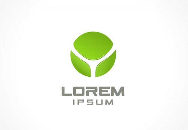 Elemento do ícone. idéia abstrata logotipo para empresa de negócios. eco, verde, flor, spa, cosméticos e conceitos médicos. pictograma para o modelo de identidade corporativa. banco de ilustração Vetor Premium
