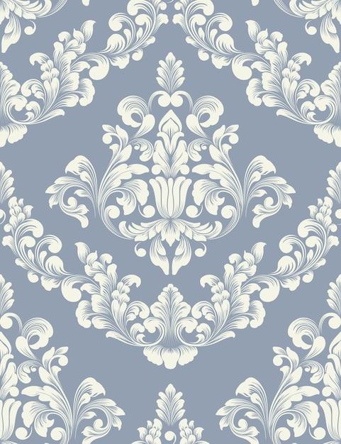Elemento do vetor damasco. ornamento de damasco à moda antiga de luxo clássico, textura perfeita real victorian para papéis de parede, têxteis, envolvimento. Vetor grátis
