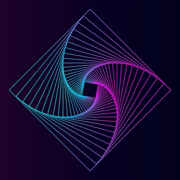 Elemento geométrico quadrado abstrato Vetor grátis