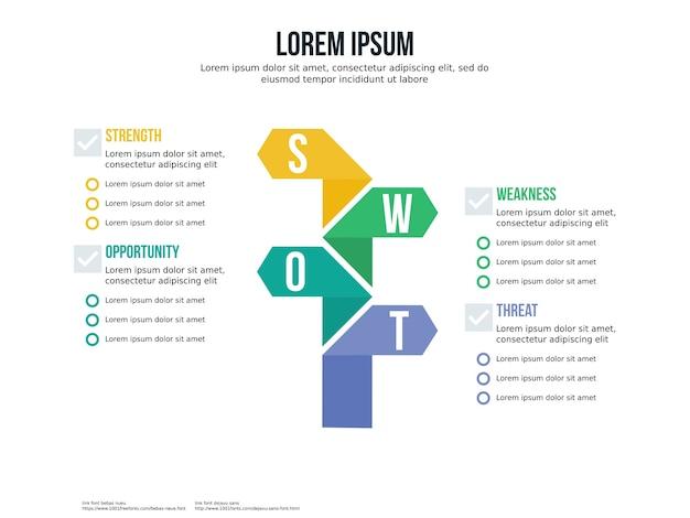 Elemento infográfico de direção de transferência e modelo de apresentação Vetor Premium