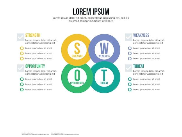 Elemento infográfico redundante e modelo de apresentação Vetor Premium