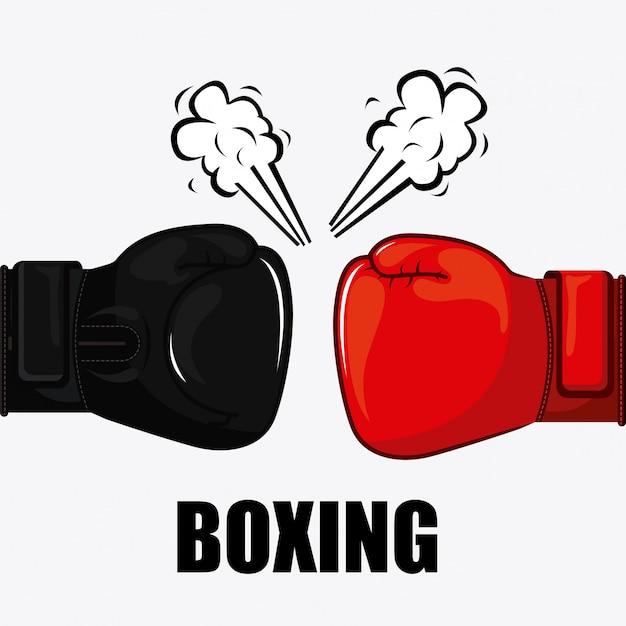Elemento simples de boxe Vetor grátis