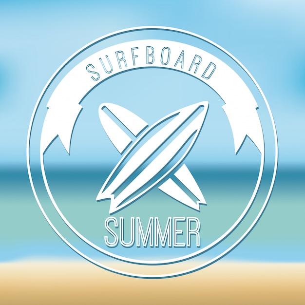 Elemento simples de surf Vetor grátis