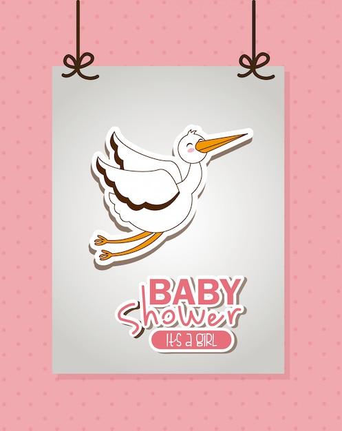 Elemento simples do chuveiro de bebê Vetor grátis