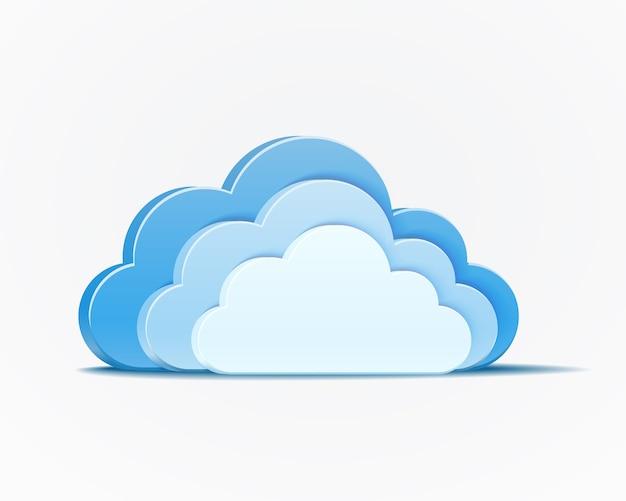 Elemento vetor de nuvens azuis Vetor grátis