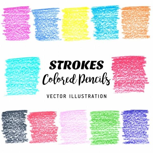 Elementos coloridos scribble stains projeto do vetor Vetor grátis