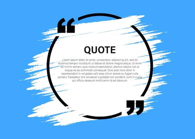 Elementos de design moderno citação bloco na moda. modelo de quadro de texto criativo citação e comentário. Vetor Premium