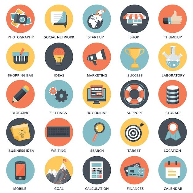 Elementos de design para aplicativos móveis e da web Vetor Premium