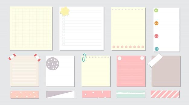 Elementos de design para notebook Vetor Premium