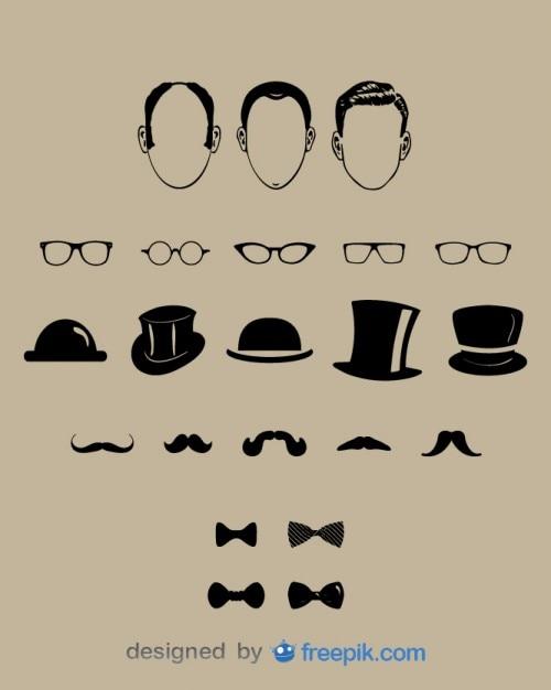 Elementos de design senhores moda Vetor grátis