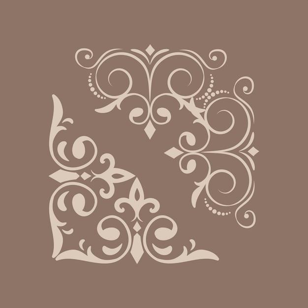 Elementos de design vintage redemoinho Vetor grátis