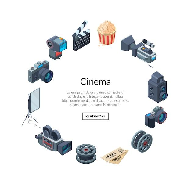 Elementos de fotografia em forma de círculo Vetor Premium