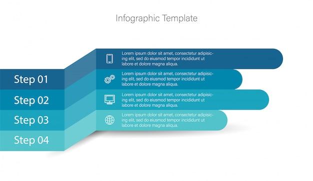 Elementos de infográfico 3d Vetor Premium