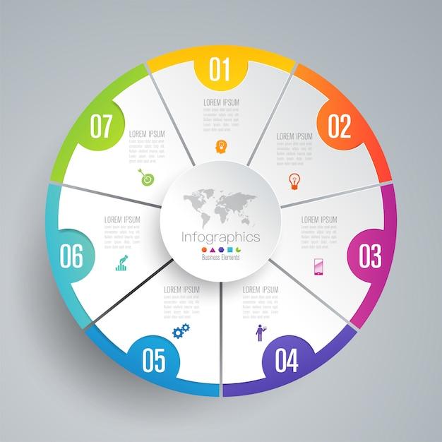 Elementos de infográfico de negócios Vetor Premium