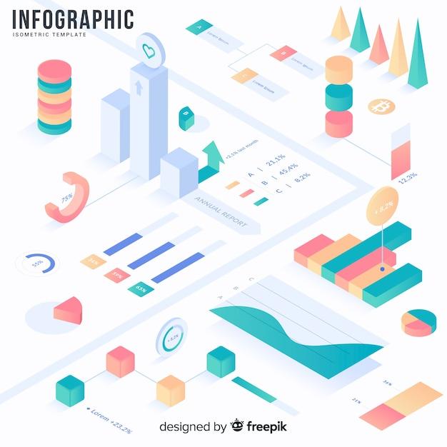 Elementos de infográfico e conjunto de ferramentas Vetor grátis