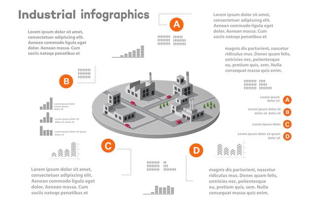 Elementos de infográfico para apresentação Vetor Premium