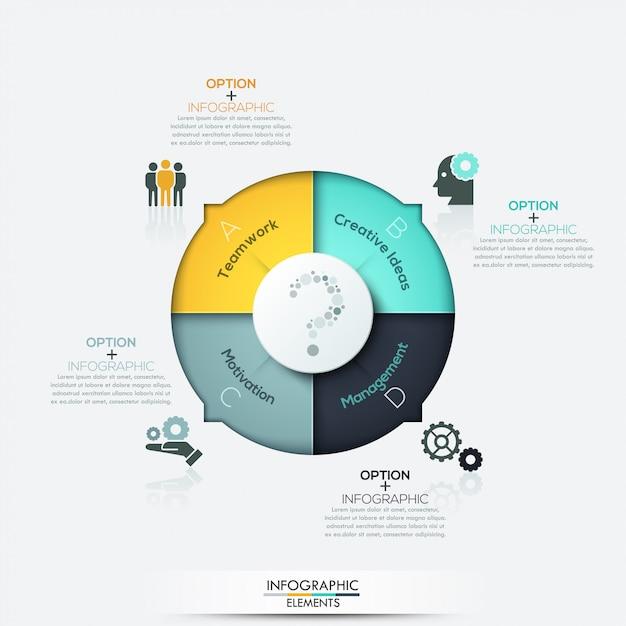 Elementos de infográficos de negócios seta moderna Vetor Premium