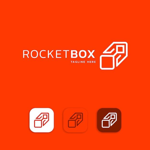 Elementos de modelo de design de ícone de logotipo de foguete Vetor Premium
